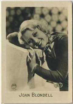 Joan Blondell 1931 Orami German Tobacco Card