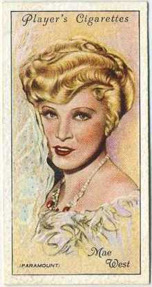 Mae West 1934 Players Film Stars Series 2