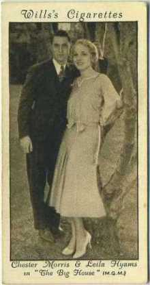 Chester Morris and Leila Hyams 1931 Wills Cinema Stars