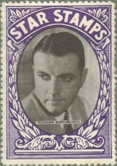 Richard Barthelmess 1934 Star Stamps collectible stamp