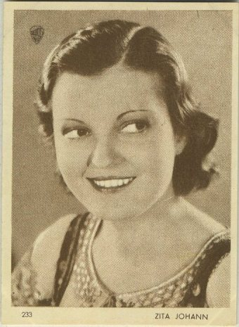 Zita Johann 1930s Aguila Movie Star Trading Card