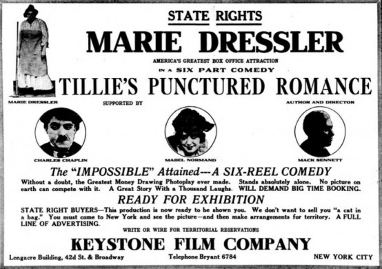 Tillies Punctured Romance 1914 magazine ad