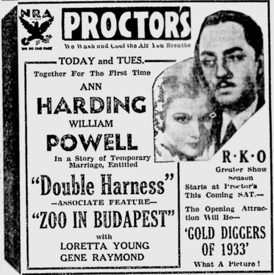 Double Harness 1933 Newspaper Ad