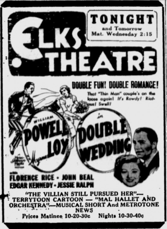 Double Wedding 1937 newspaper ad