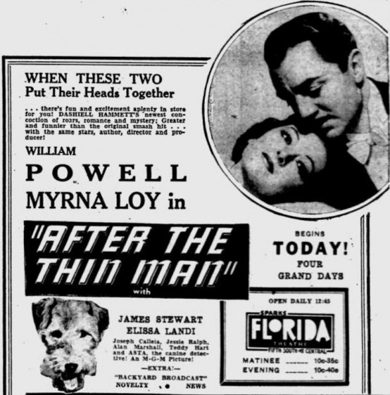 After the Thin Man 1937 newspaper ad
