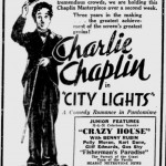 City Lights 1931 newspaper ad