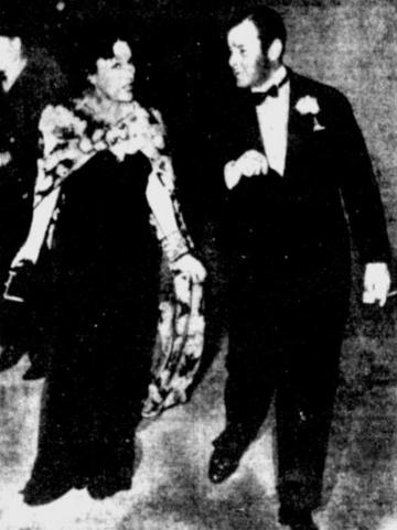 Gloria Swanson and Herbert Marshall 1936 newspaper photo