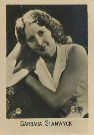 Barbara Stanwyck 1931 Orami C Tobacco Card from Germany