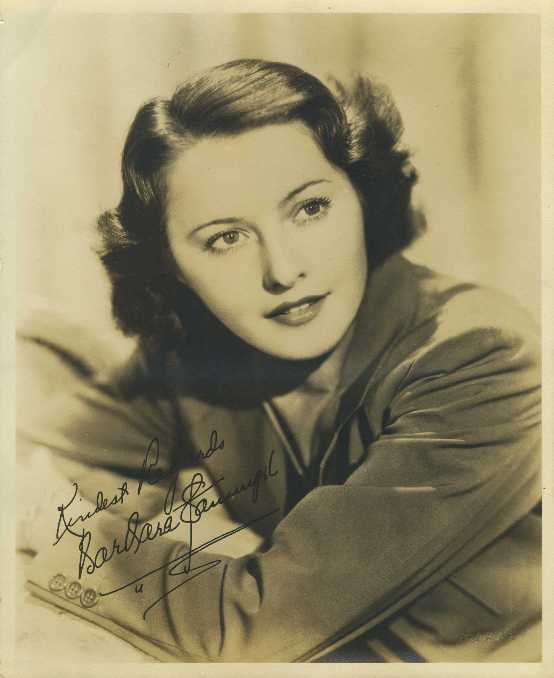 Barbara Stanwyck 1930s 8x10 Fan Photo