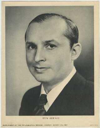 Ben Bernie 1937 M23 Philadelphia Record Newspaper Supplement