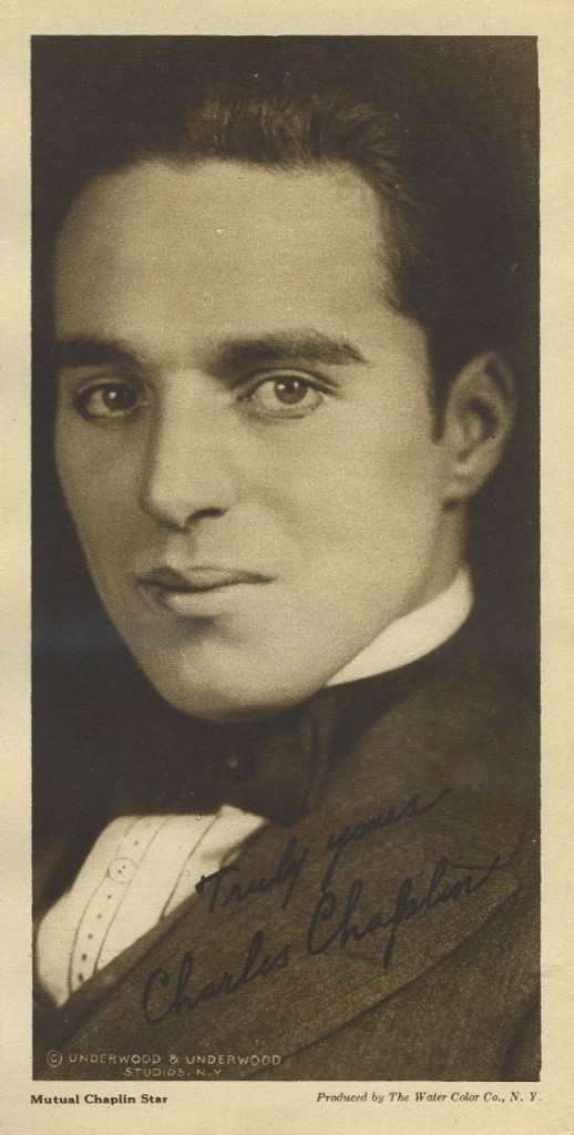 Charles Chaplin 1916 Water Color Company Premium Photo