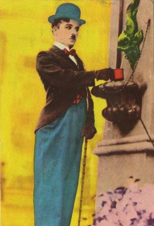 Charlie Chaplin Historia del Cine Trading Card