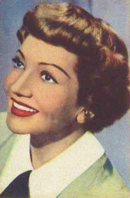 Claudette Colbert 1951 Artisti del Cinema Trading Card