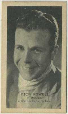 Dick Powell 1934 Brown and Williamson Golden Grain card
