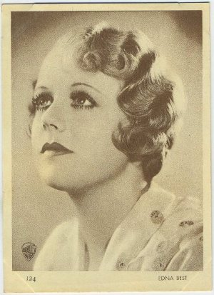 Edna Best 1930s Aguila Chocolates Trading Card