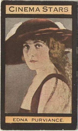 Edna Purviance 1924 Teofani Cinema Stars Tobacco Card