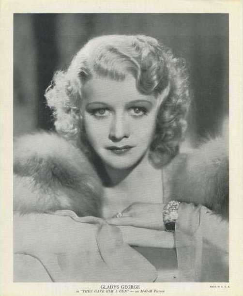 Gladys George 1937 R95 8x10 Linen Textured Premium Photo