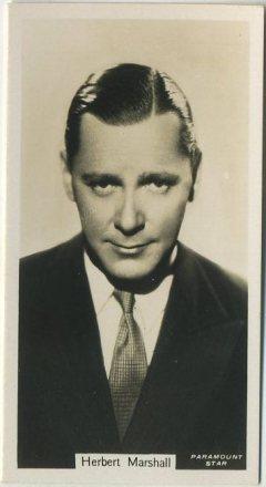 Herbert Marshall 1934 John Sinclair Film Stars