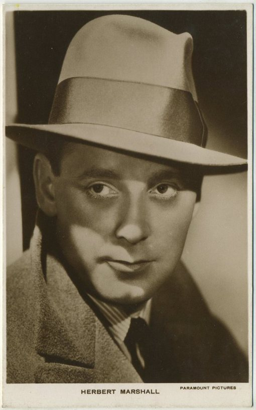 Herbert Marshall 1930s Picturegoer Real Photo Postcard
