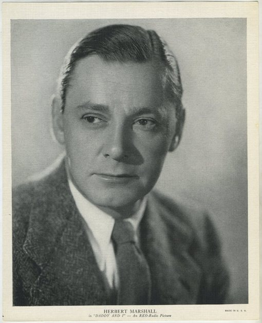 Herbert Marshall 1936 R95 8x10 Linen Textured Premium Photo