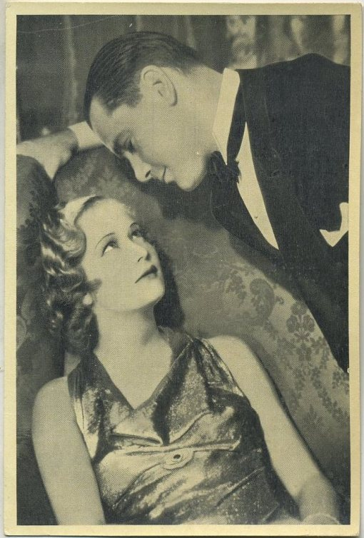Miriam Hopkins and Herbert Marshall 1940 Max Cinema Cavalcade Tobacco Card