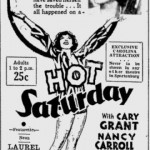 Hot Saturday 1932 newspaper ad