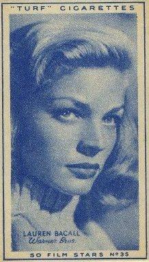 Lauren Bacall 1947 Turf Film Stars