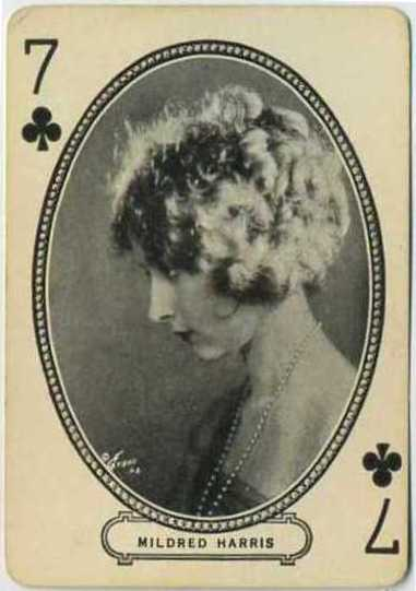 Mildred Harris Chaplin circa 1916 MJ Moriarty Playing Card
