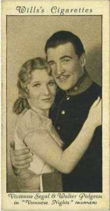 Walter Pidgeon and Vivienne Segal 1931 Wills Cinema Stars