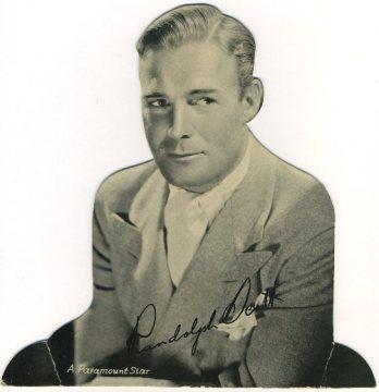 Randolph Scott 1930s Quaker Oats Standee