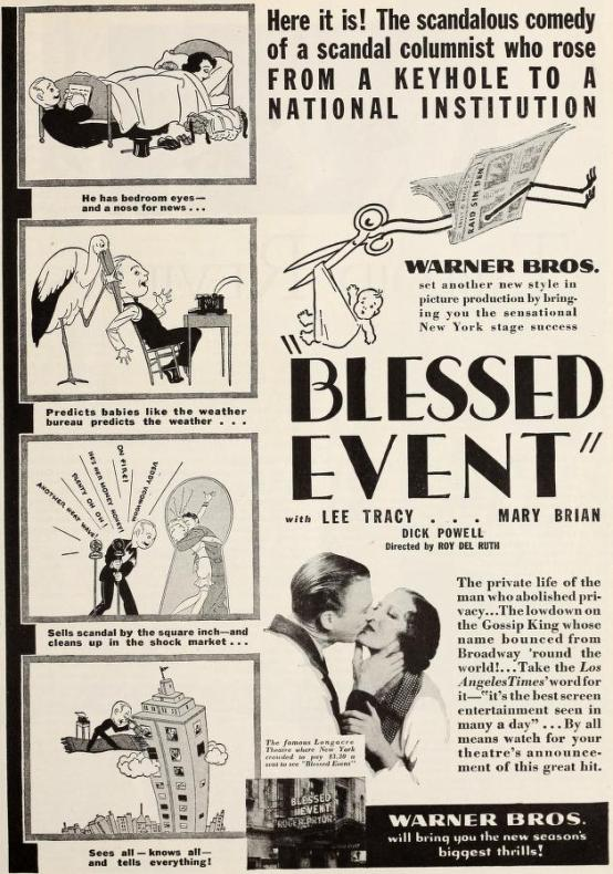 Blessed Event 1932 magazine ad