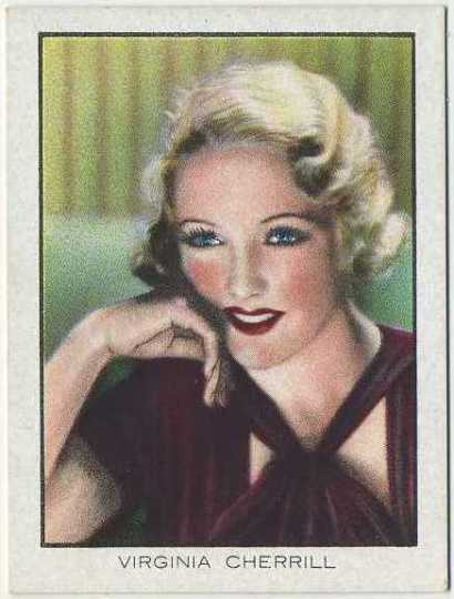 Virginia Cherrill 1933 BAT World Famous Cinema Artistes Tobacco Card
