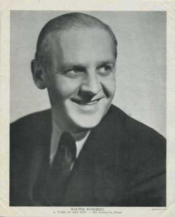 Walter Winchell 1937 R95 8x10 Linen Textured Photo