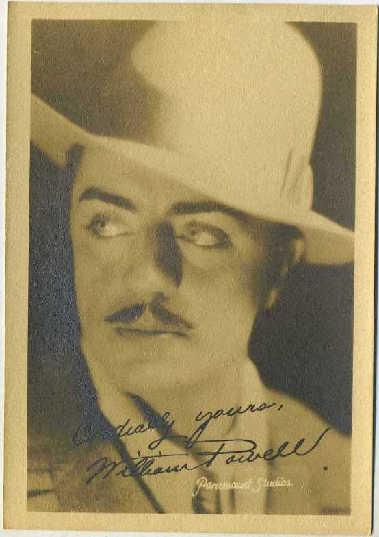 William Powell 1920s Paramount Fan Photo