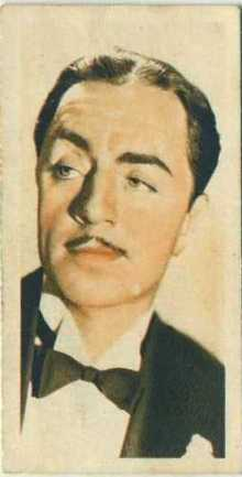 William Powell 1934 Godfrey Phillips Film Stars