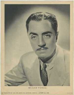 William Powell 1936 M23 Philadelphia Record Newspaper Supplement
