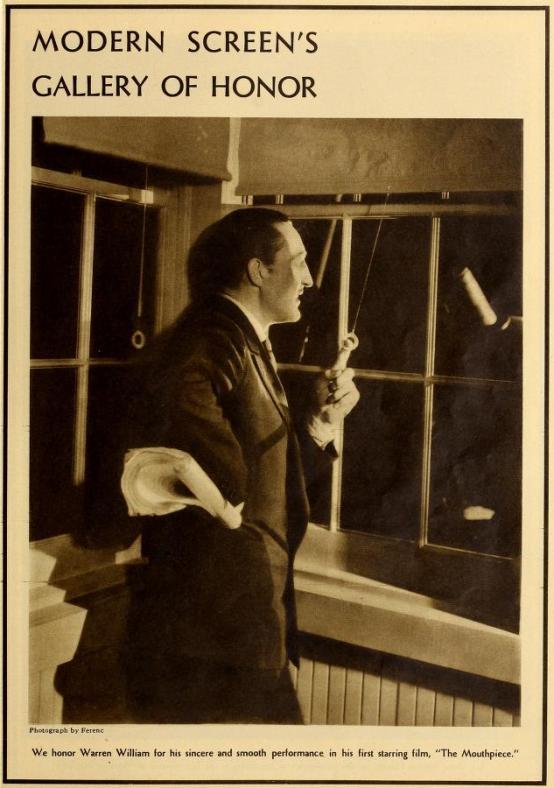 Warren William 1932 Modern Screen