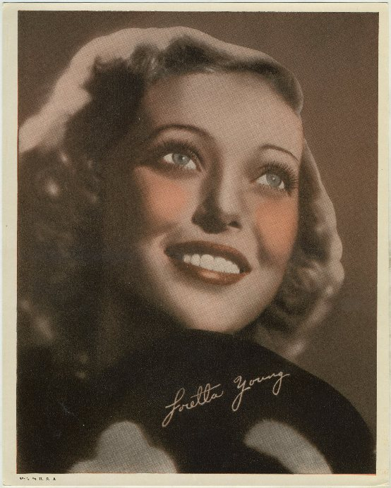 Loretta Young mid 1930s 8x10 Premium Photo