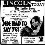 She Had to Say Yes (1933) Starring Loretta Young