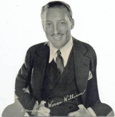 Warren Williams 1930s Quaker Oats Standee
