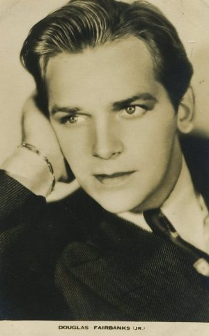 Douglas Fairbanks Jr Film Weekly Postcard