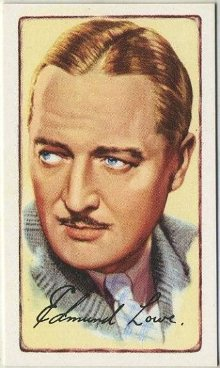 Edmund Lowe 1935 Gallaher Signed Portraits of Famous Stars