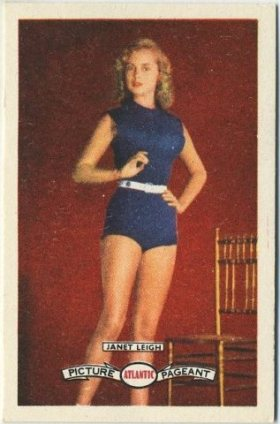 Janet Leigh 1958 Atlantic Oil Picture Pageant Trading Card