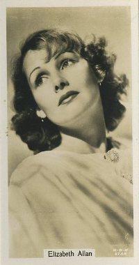Elizabeth Allan 1934 John Sinclair Film Stars
