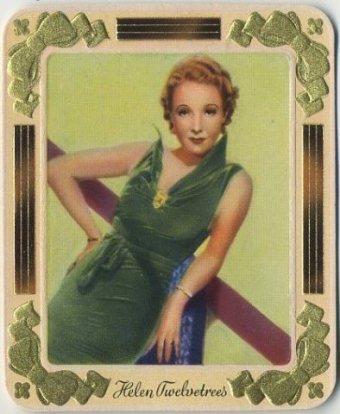 Helen Twelvetrees 1930s Garbaty German Tobacco Card