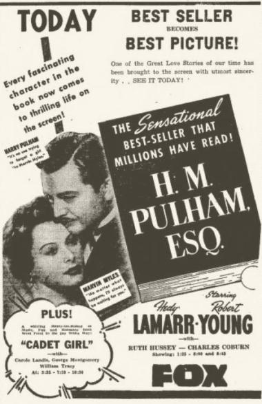 HM Pulham Esq newspaper ad from Joplin Globe January 25 1942 page 4B