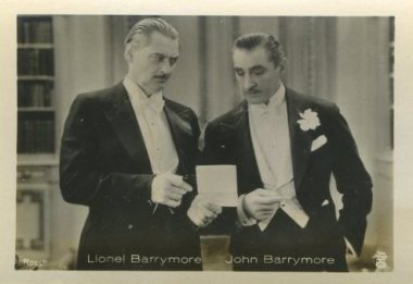Lionel and John Barrymore 1930s German Tobacco Card