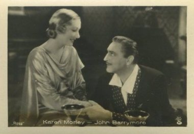 Karen Morley and John Barrymore 1930s German tobacco card