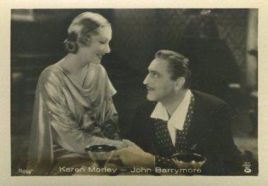 Karen Morley and John Barrymore 1930s German tobacco card