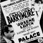 Arsene Lupin 1932 newspaper ad